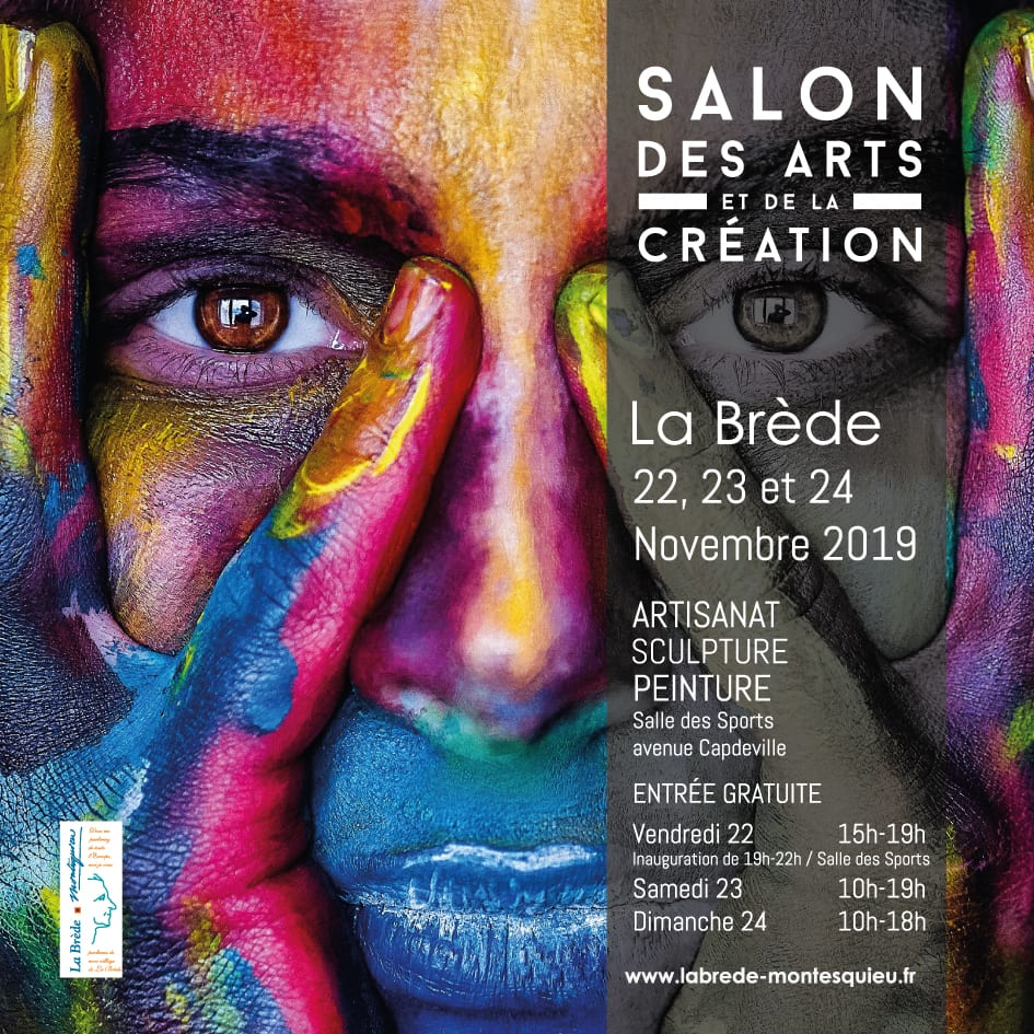 Affiche du Salon des arts 2019 La Brède