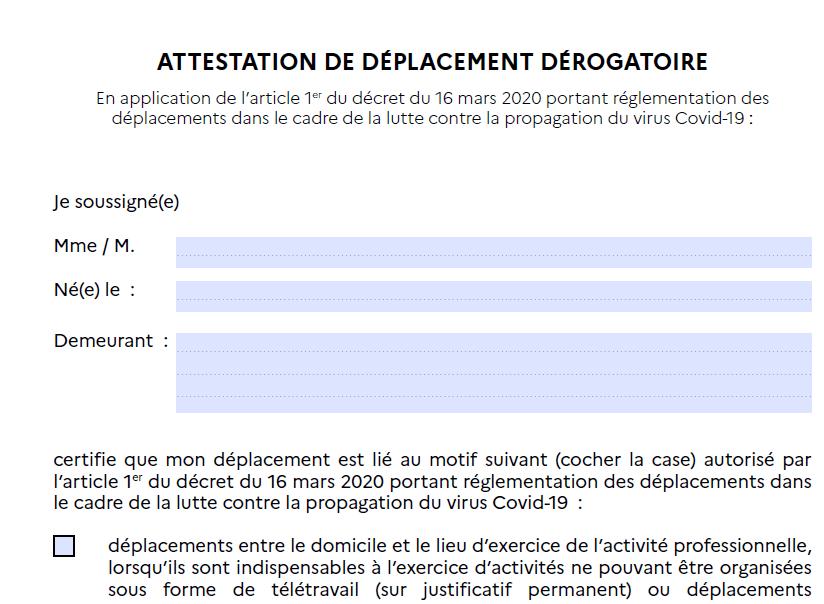Attestations De Deplacement Derogatoire Mairie De La Brede