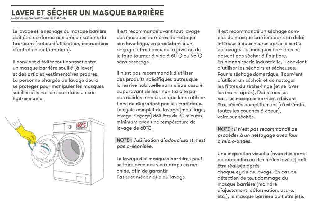Comment laver un masque barrière